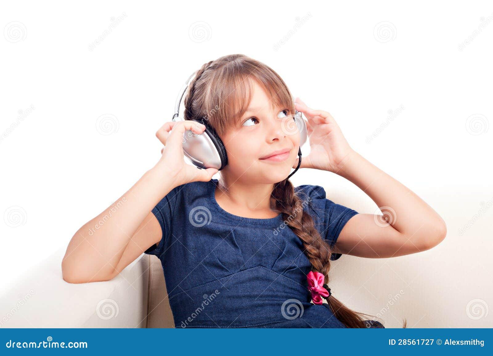有耳机的女孩