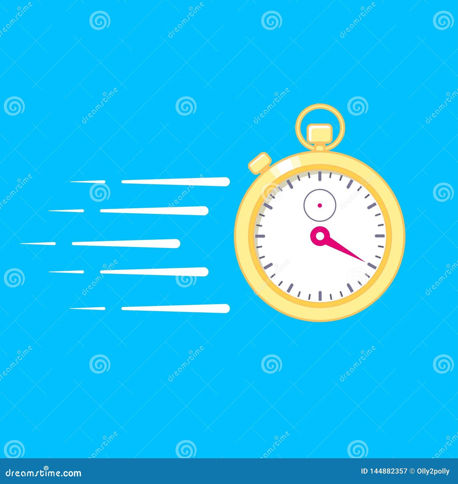 运行时间概念 有行动线的电子数字金秒表