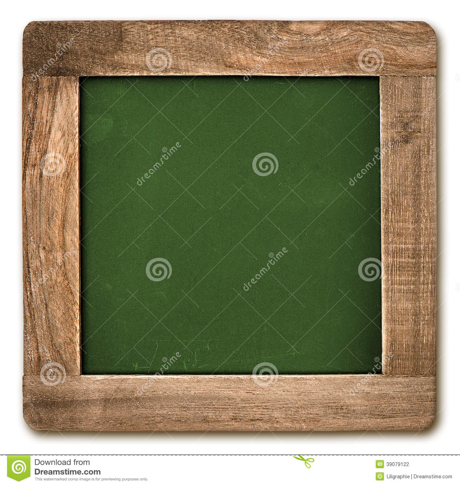有被隔绝的木制框架的方形的黑板