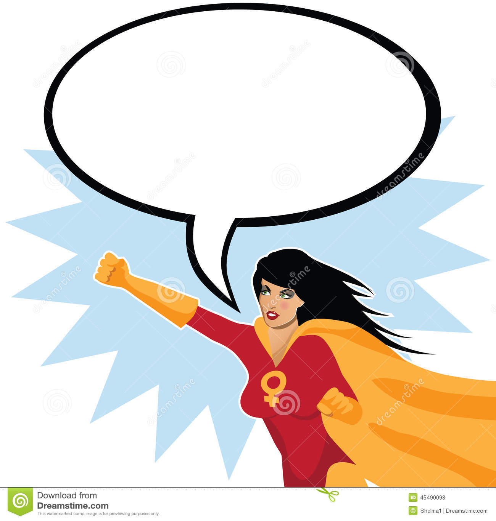 有讲话泡影的女权非凡的女性