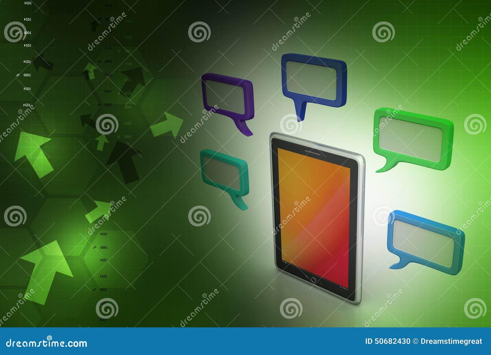 Download 有讲话泡影的片剂电话 库存例证. 插画 包括有 通信, bubblegum, 货币, 财务, 平面, 几何 - 50682430