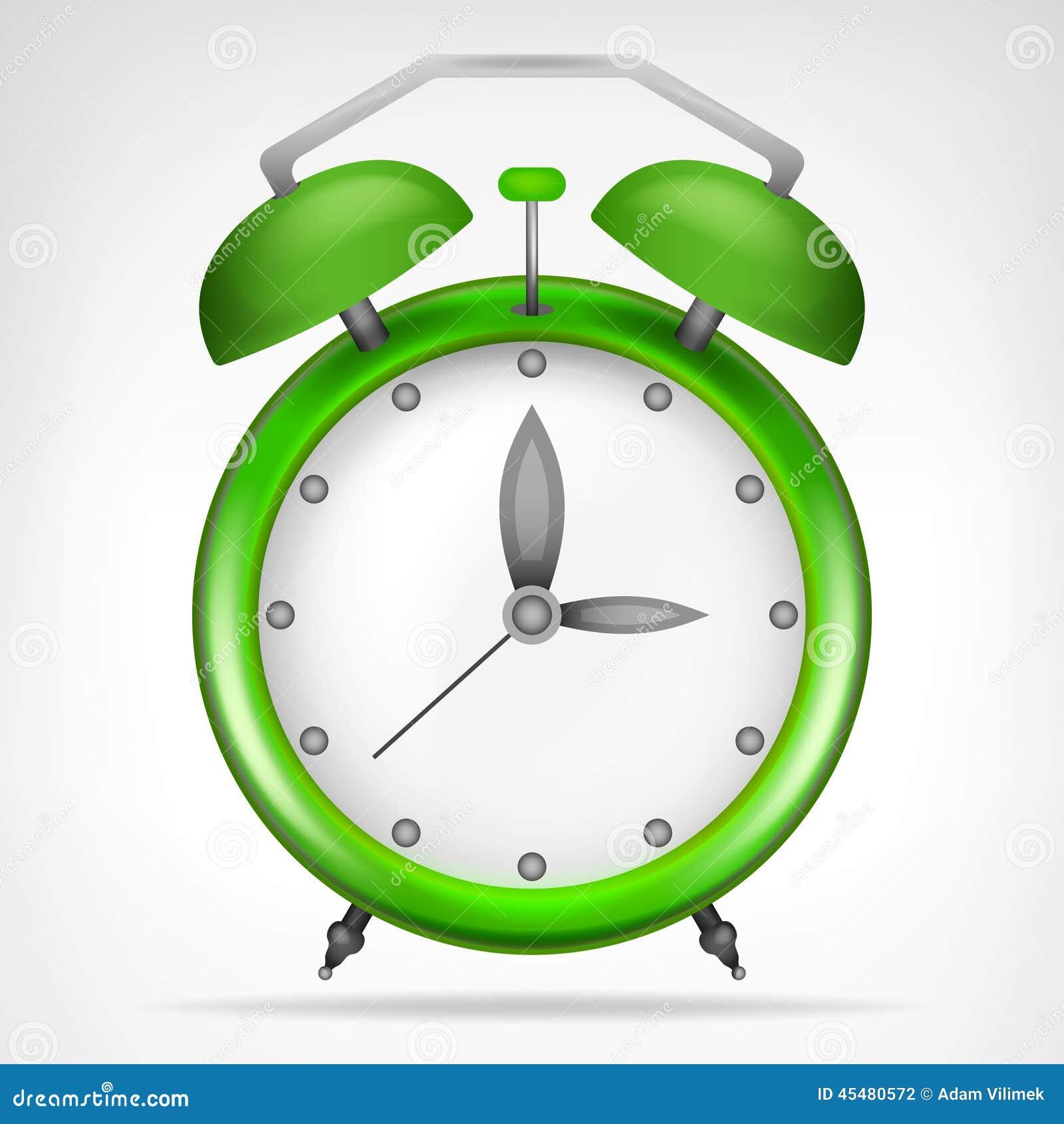 有运行时间对象的绿色时钟