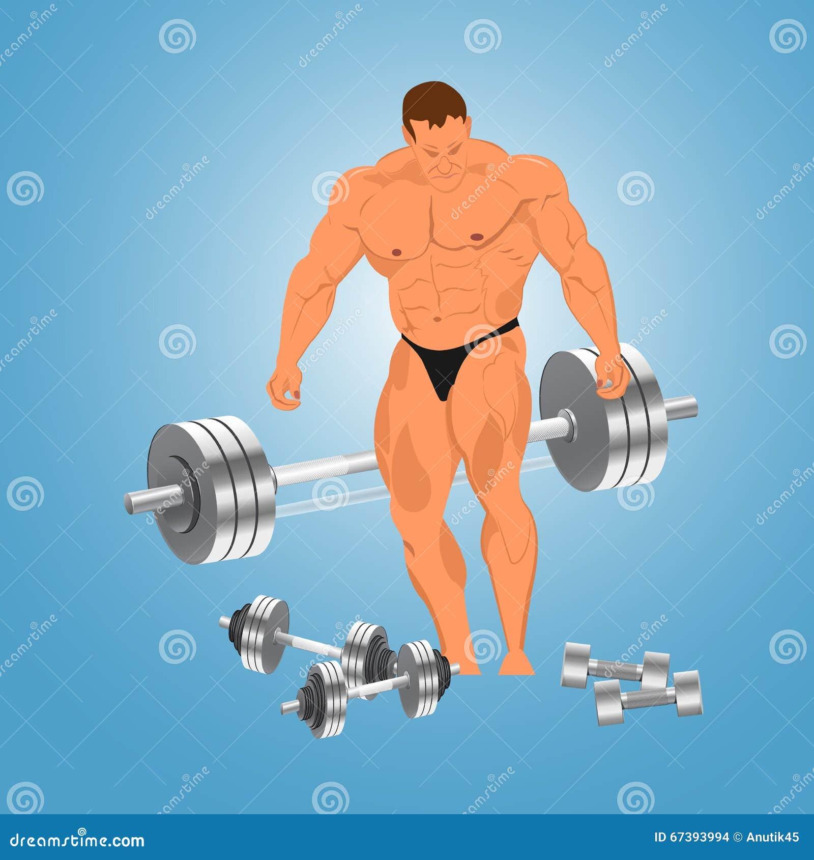 爱好健美者的传染媒介例证有重量的.图片
