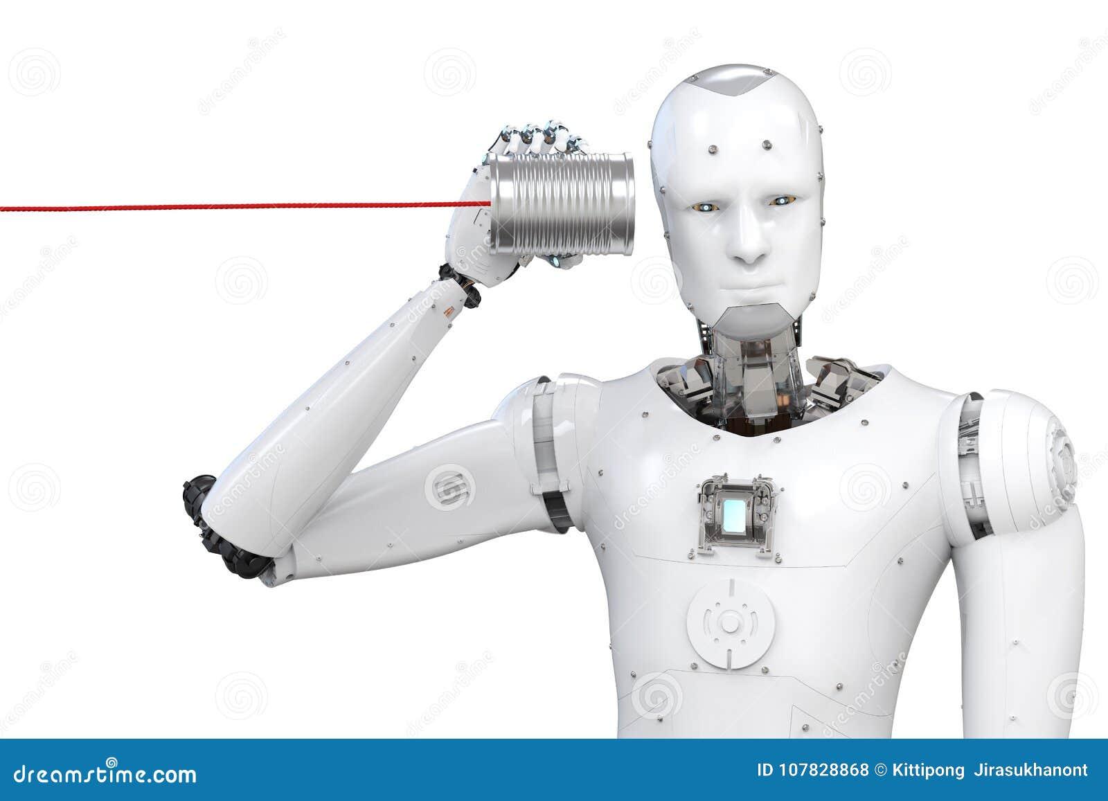 有锡罐的机器人