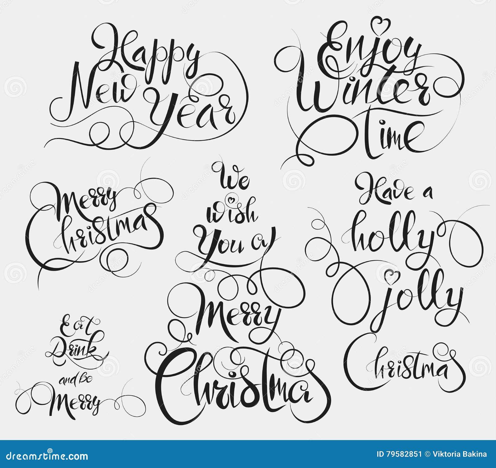 有霍莉快活的圣诞节,享受冬时,吃并且喝并且是快活,圣诞快乐和新年快乐问候