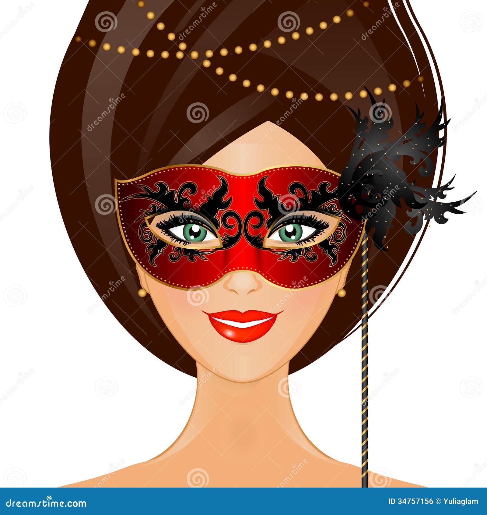有面具的妇女