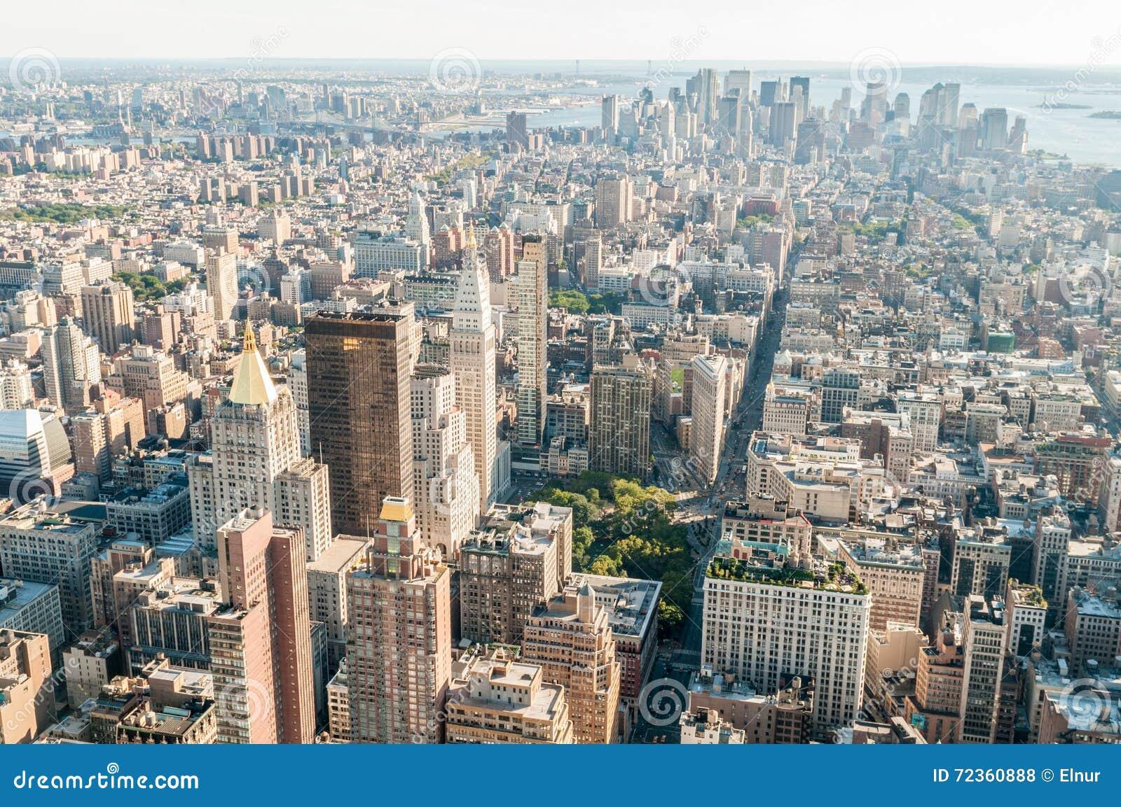 有高摩天大楼的纽约全景