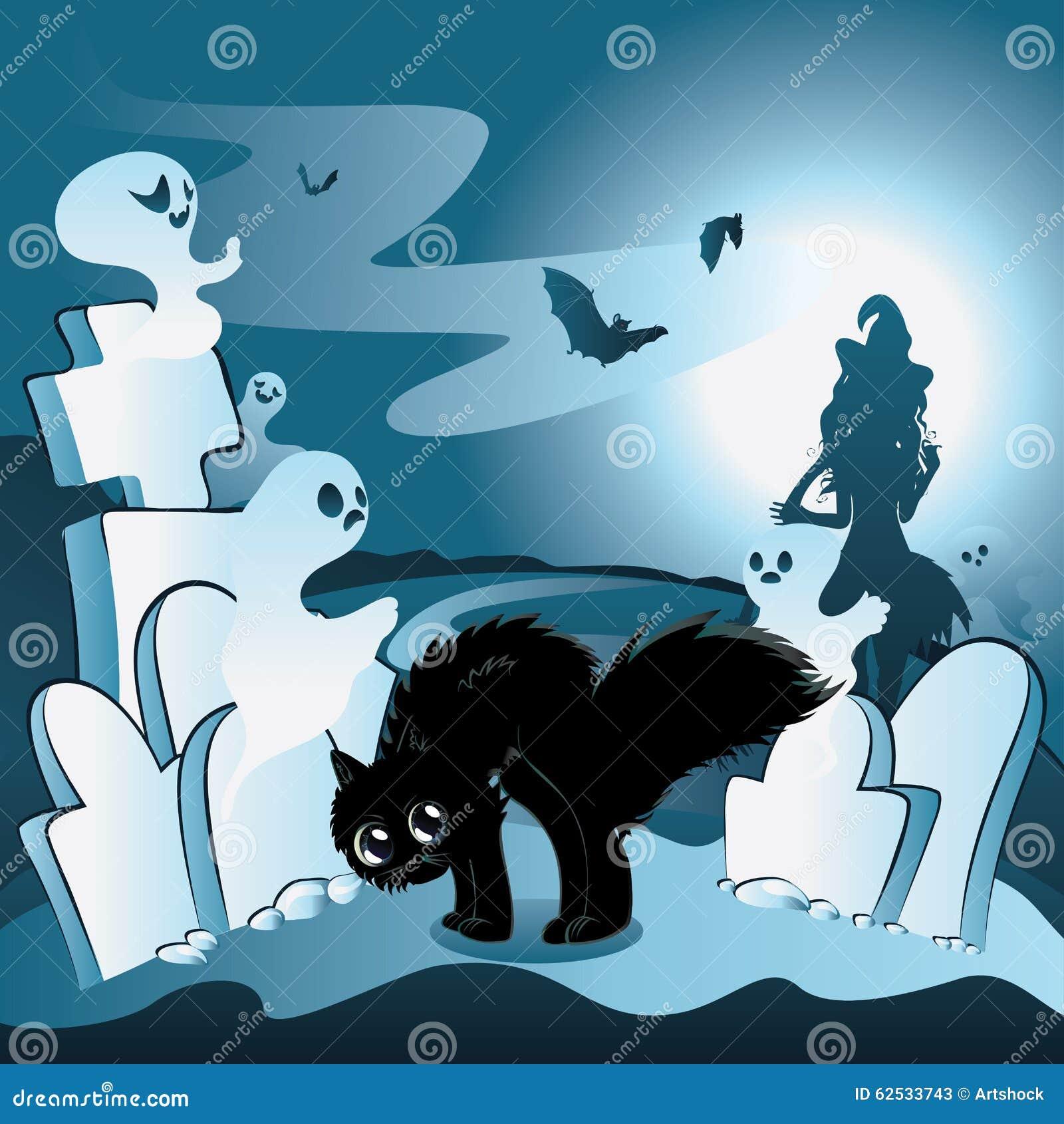 有鬼魂的动画片公墓