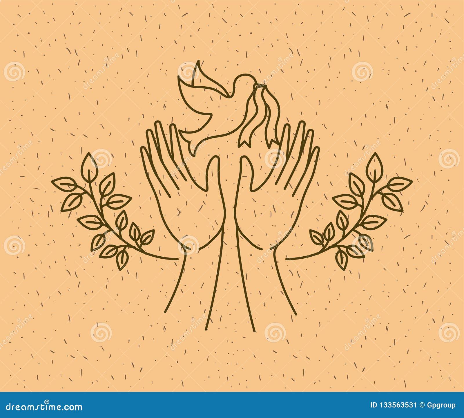 有鸠世界和平的手