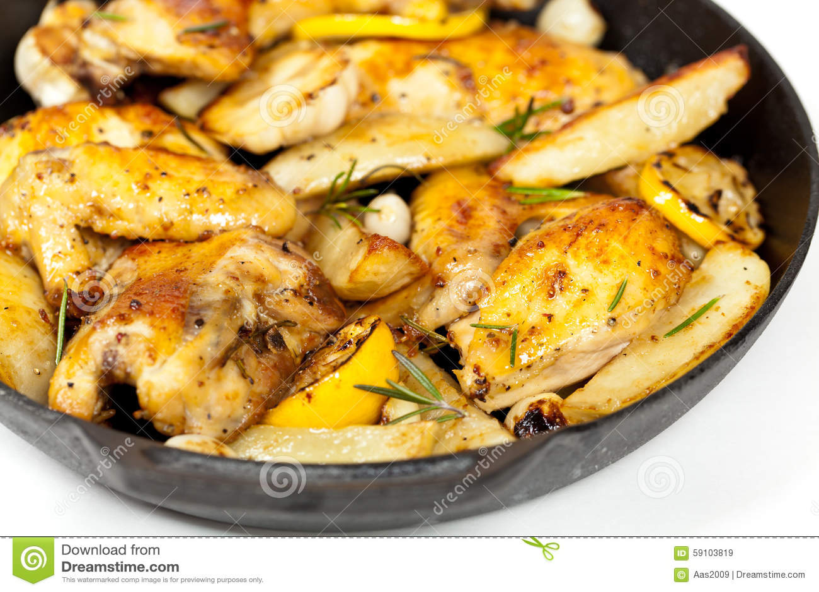 有鸡的煎锅