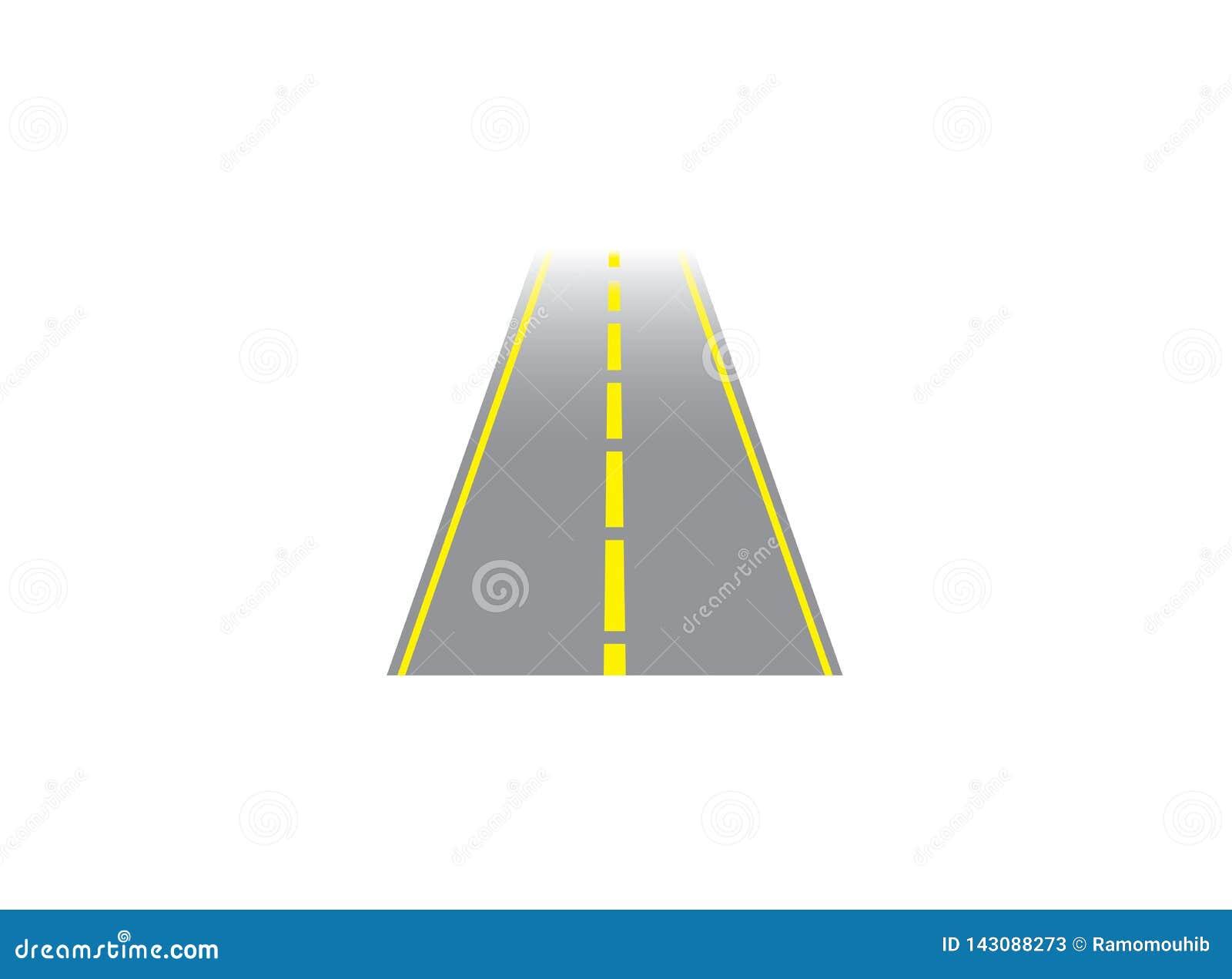 有黄线的直路商标设计的