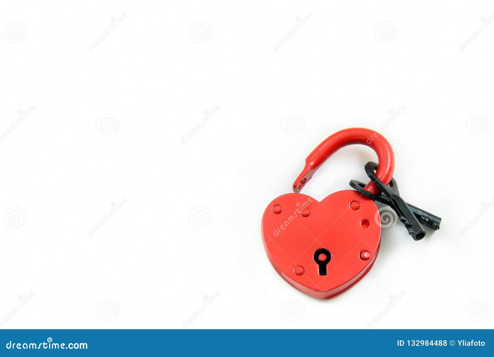 有黑两的红色锁