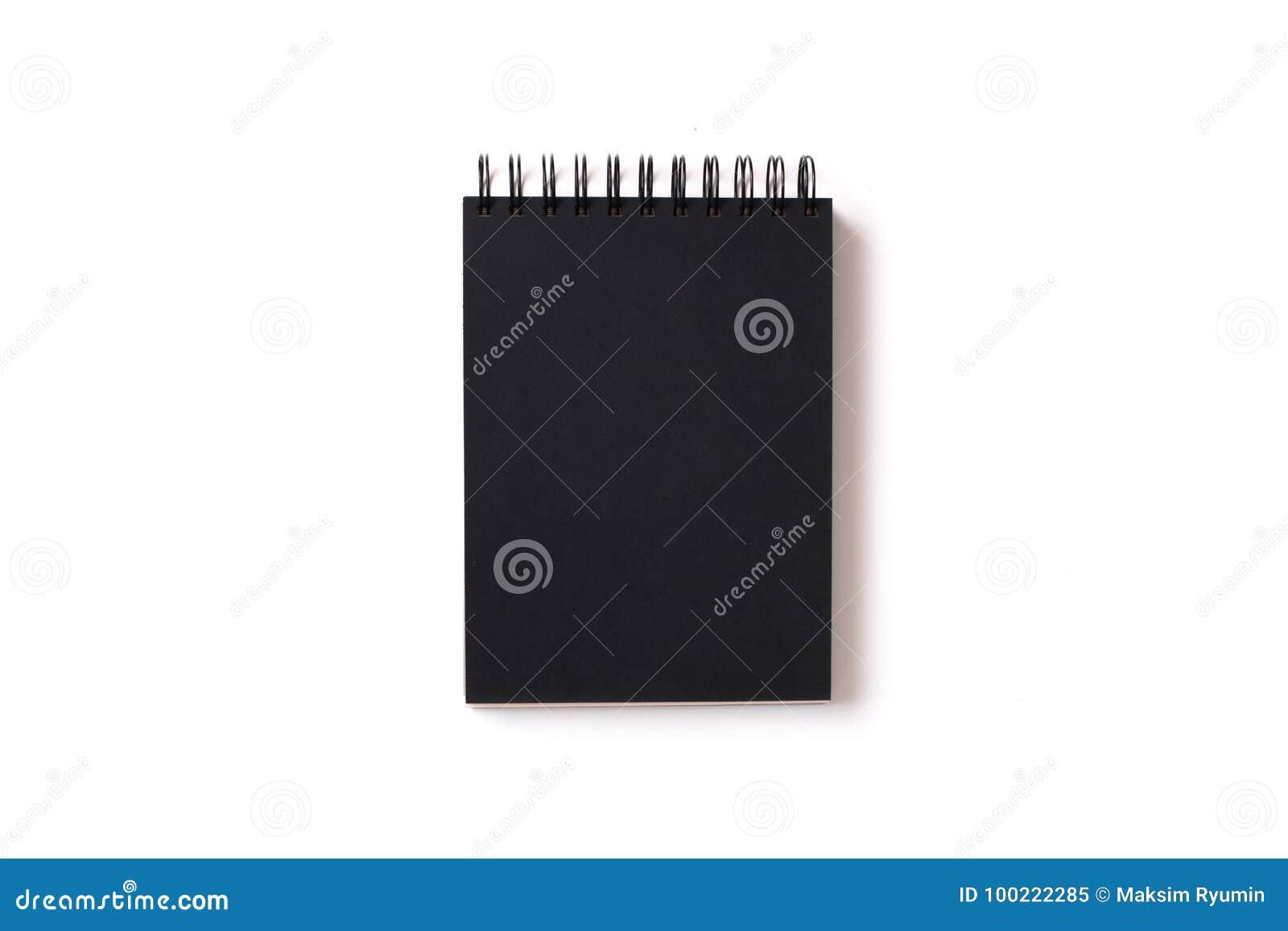 有黑纸的被隔绝的笔记本