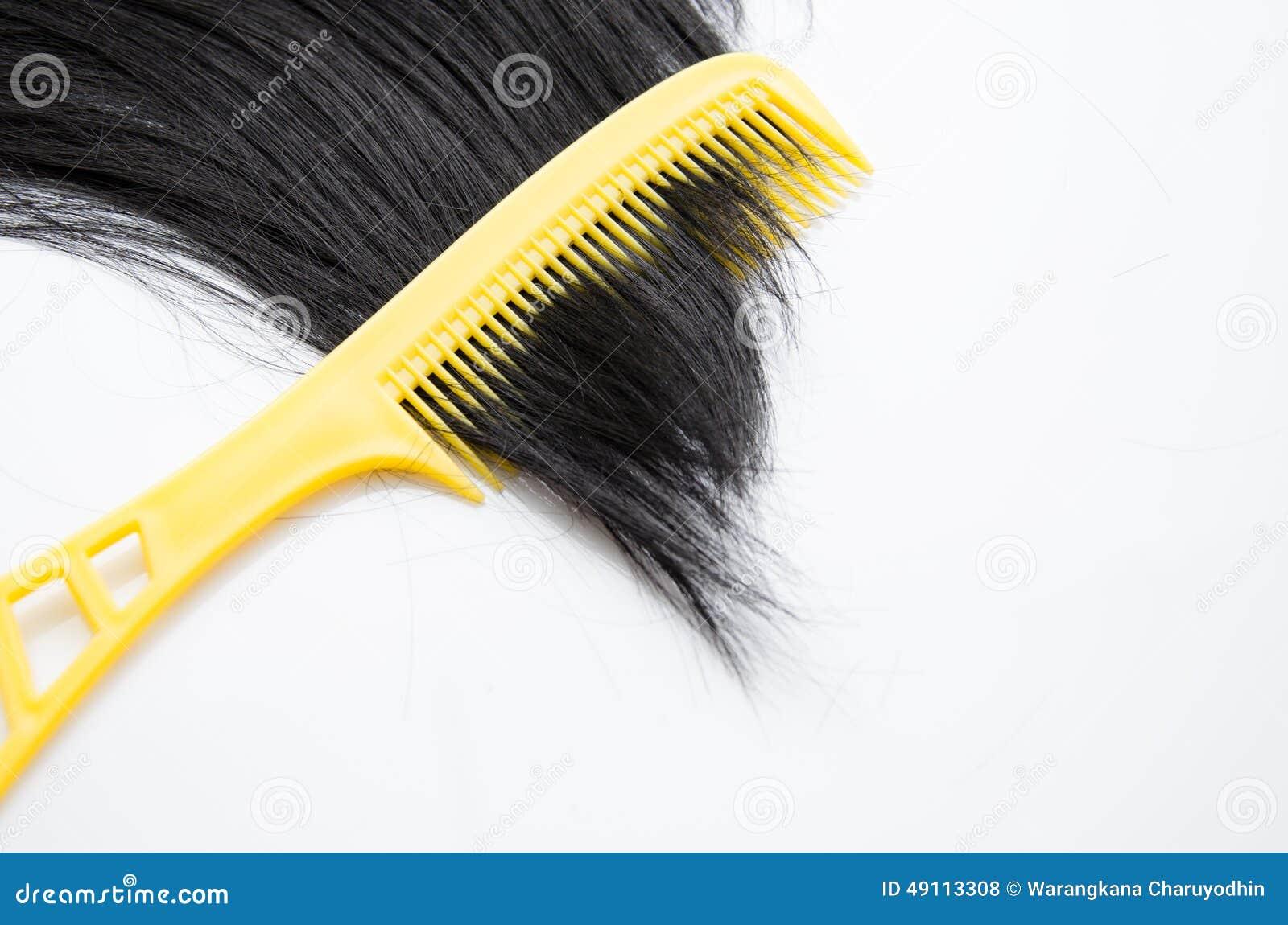 有头发保护的Comp在白色