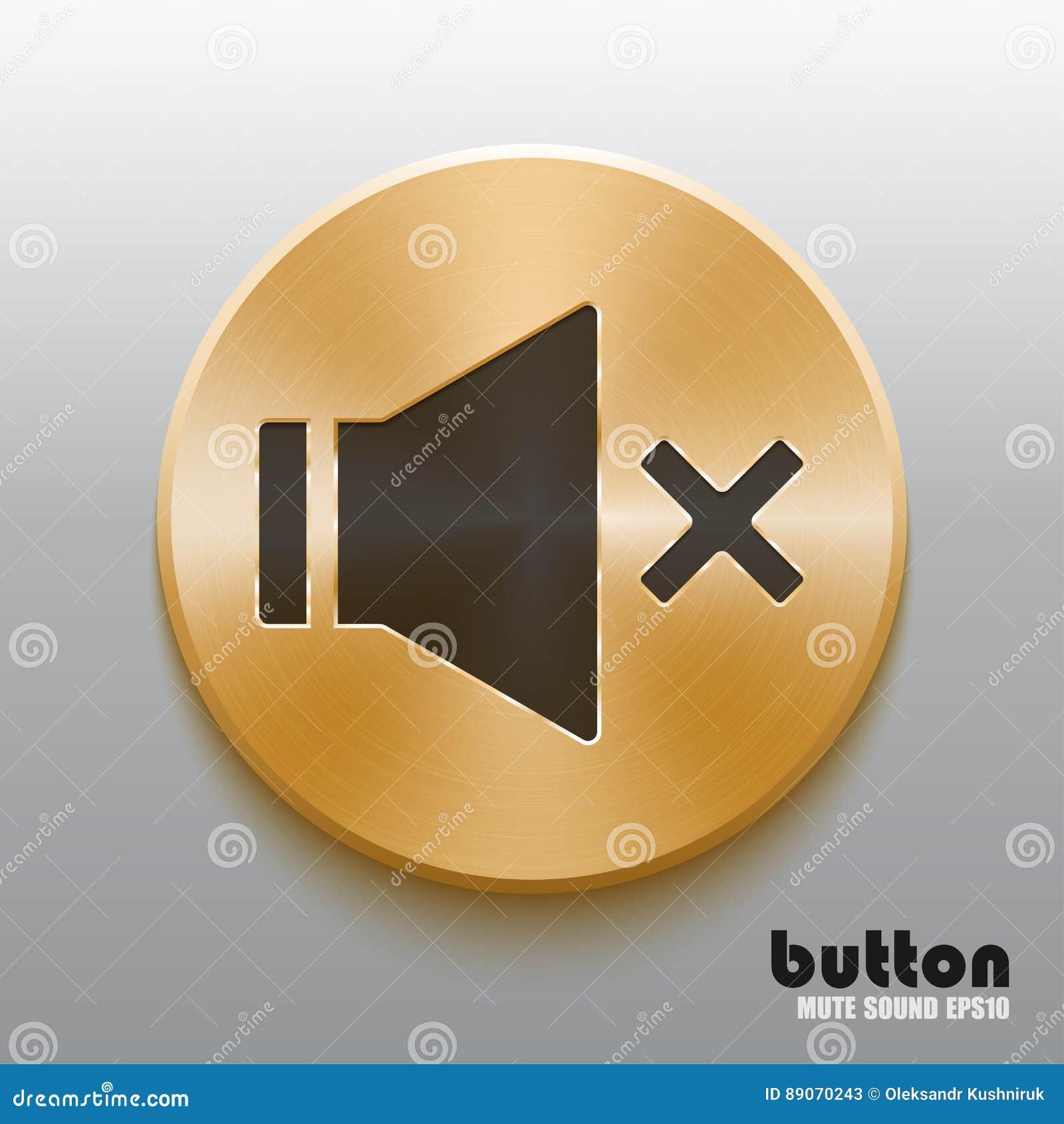 有黑标志的金黄哑合理的按钮