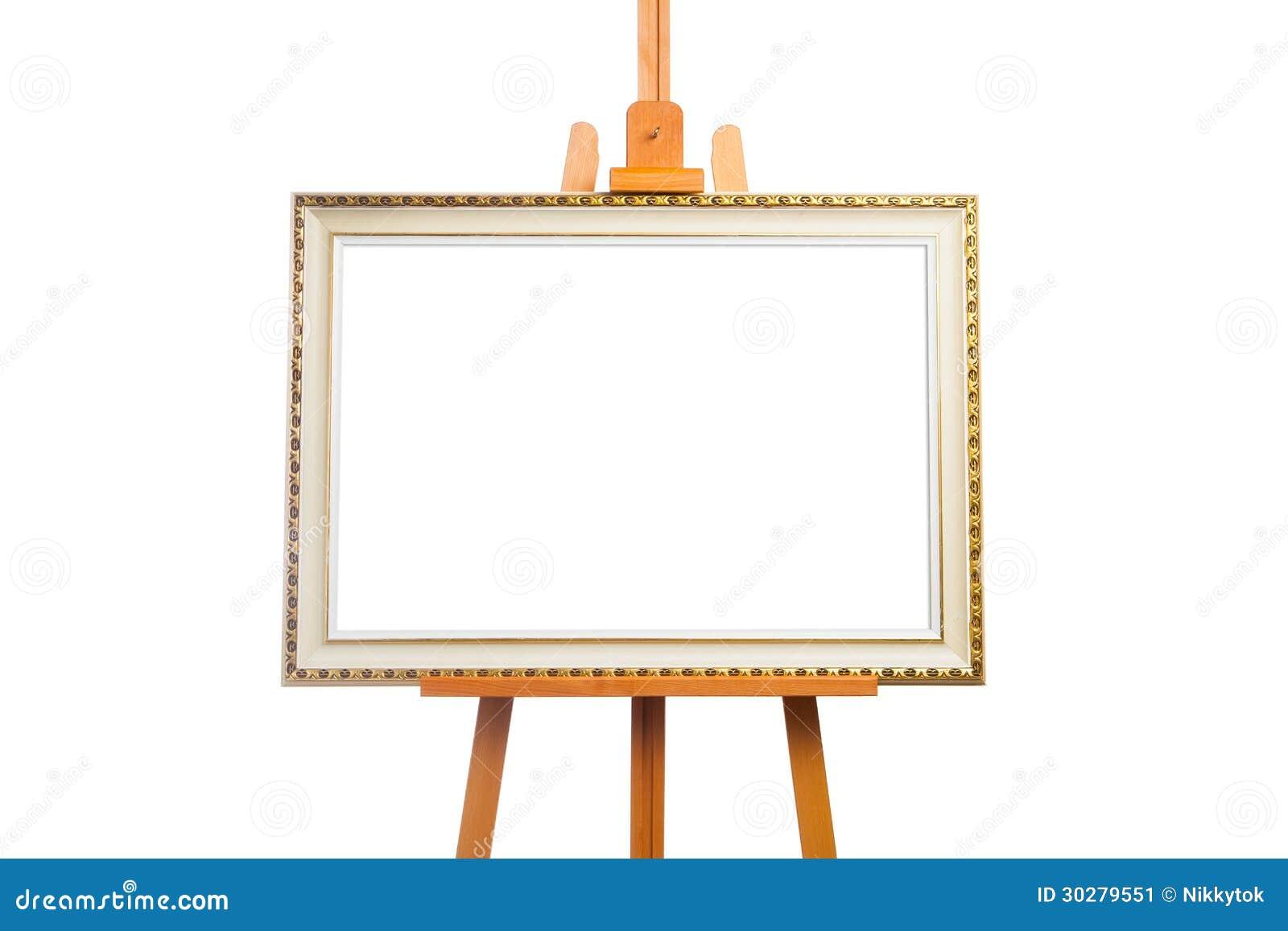 有绘画框架的画架