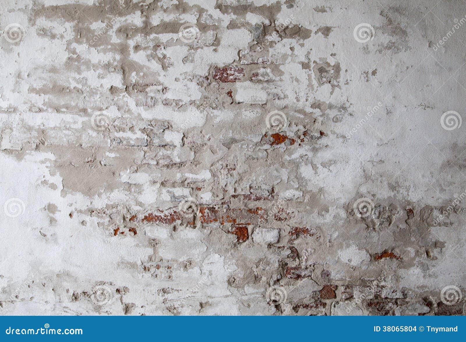 有破裂的具体背景纹理的老红砖墙壁