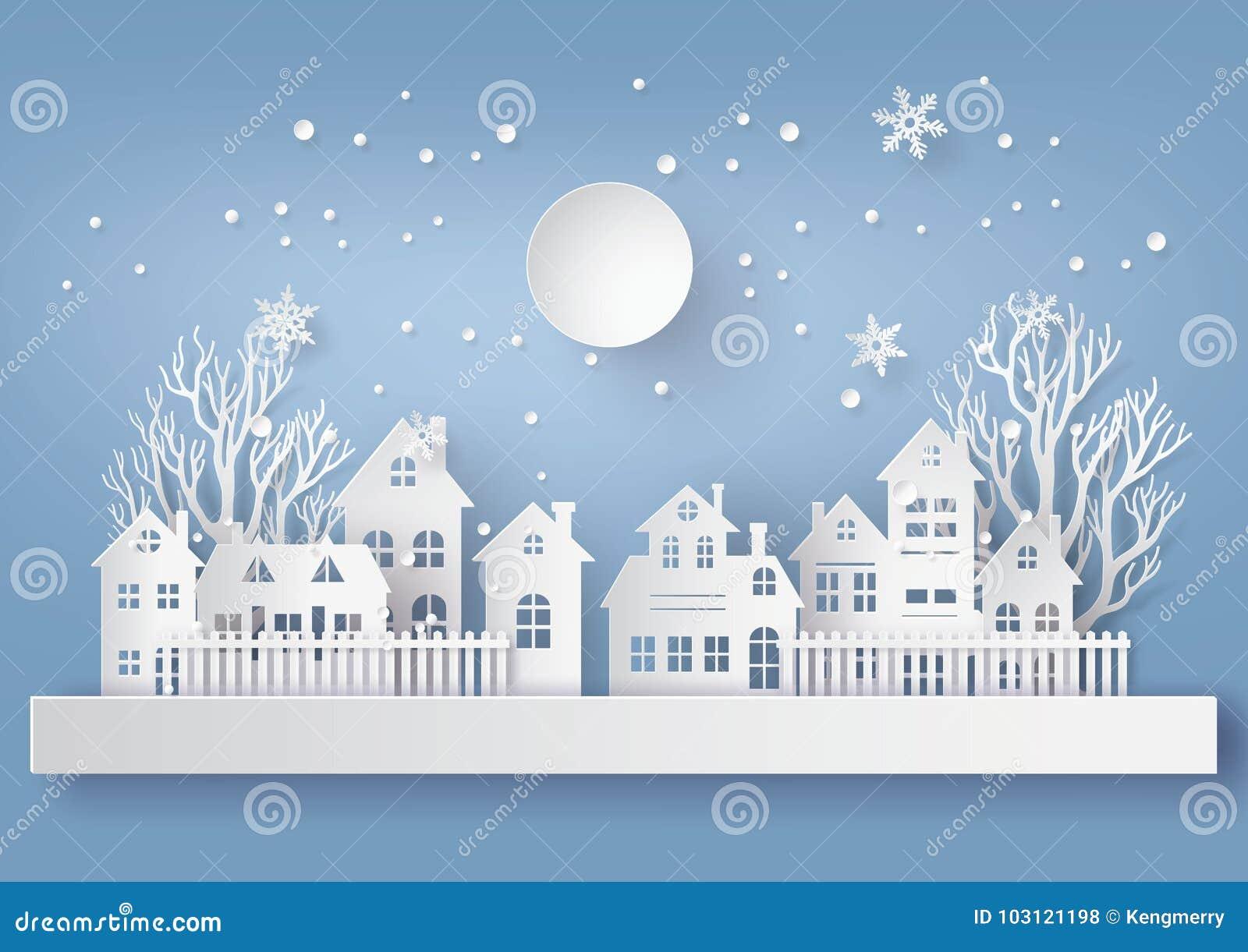 有ful的lm冬天雪都市乡下风景城市村庄
