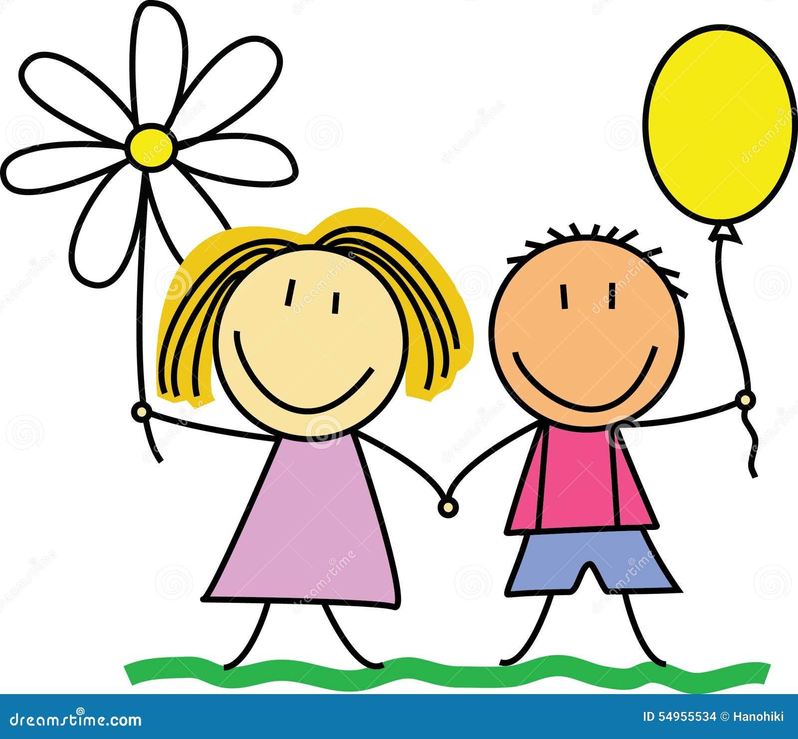 朋友/友谊-画/illustration的孩子图片