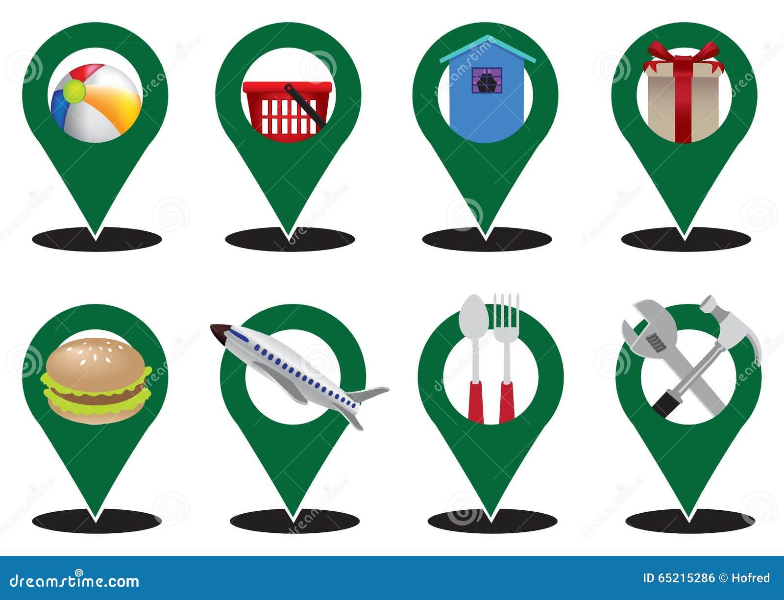服务业地图标志传染媒介象集合图片
