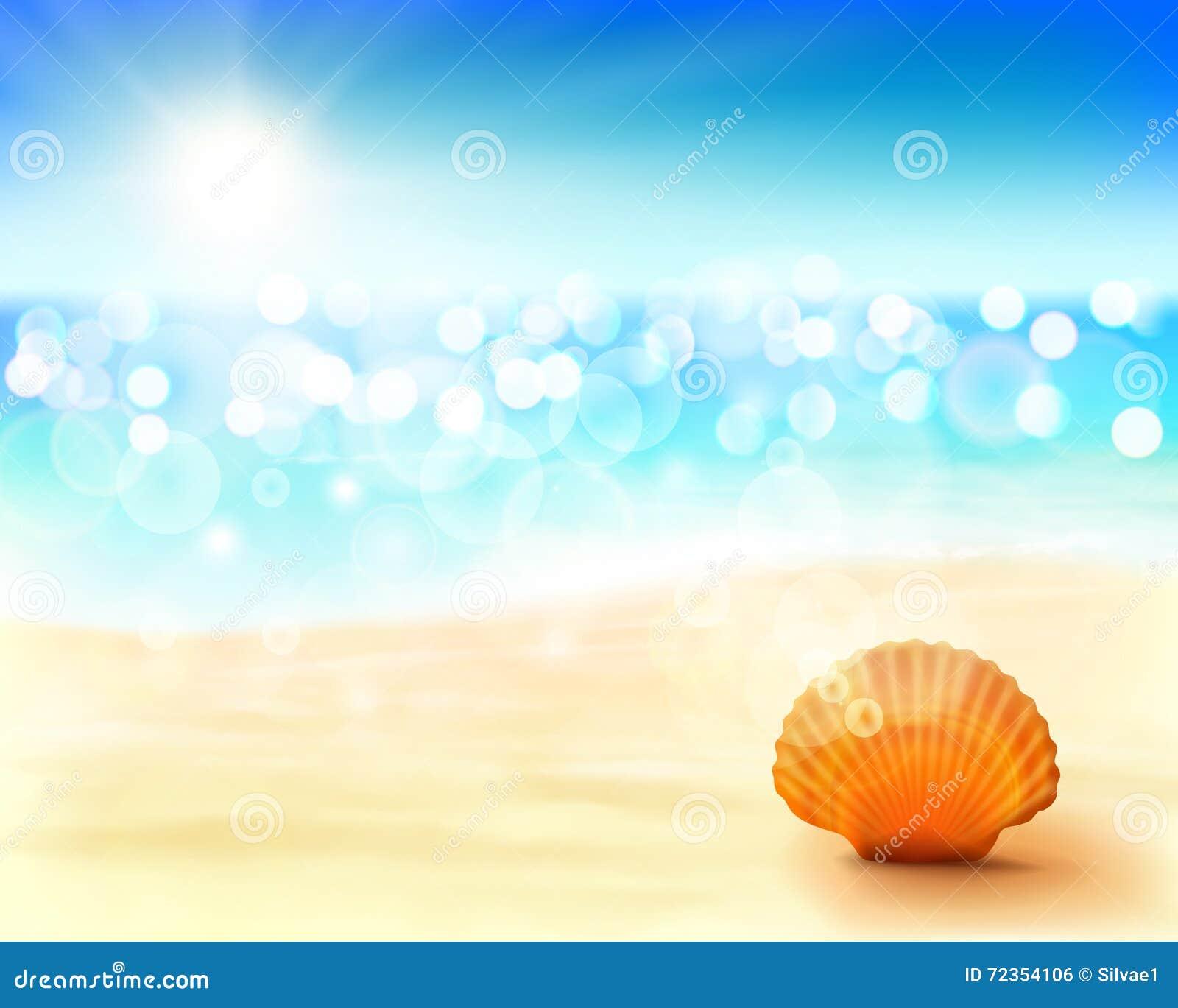 晴朗的海滩 也corel凹道例证向量