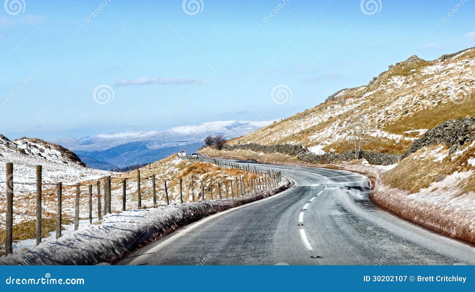 冰冷的山路