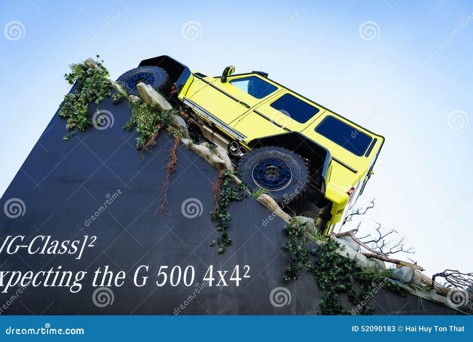 期待新的展示汽车G 500 4x4,汽车展示会日内瓦的奔驰车电视2015年