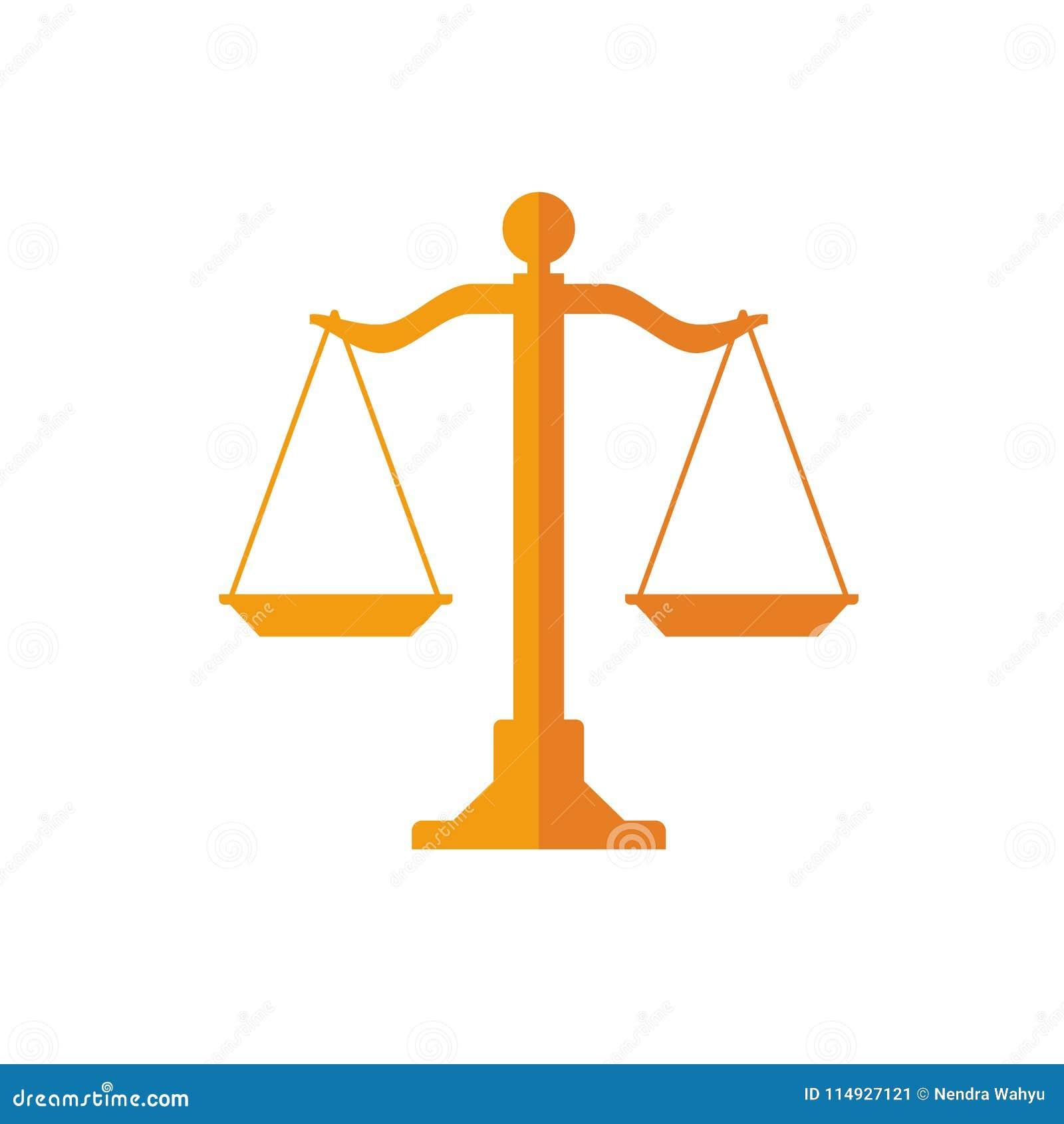 木头标度的标志法律、正义和平等的在一个平和简单设计