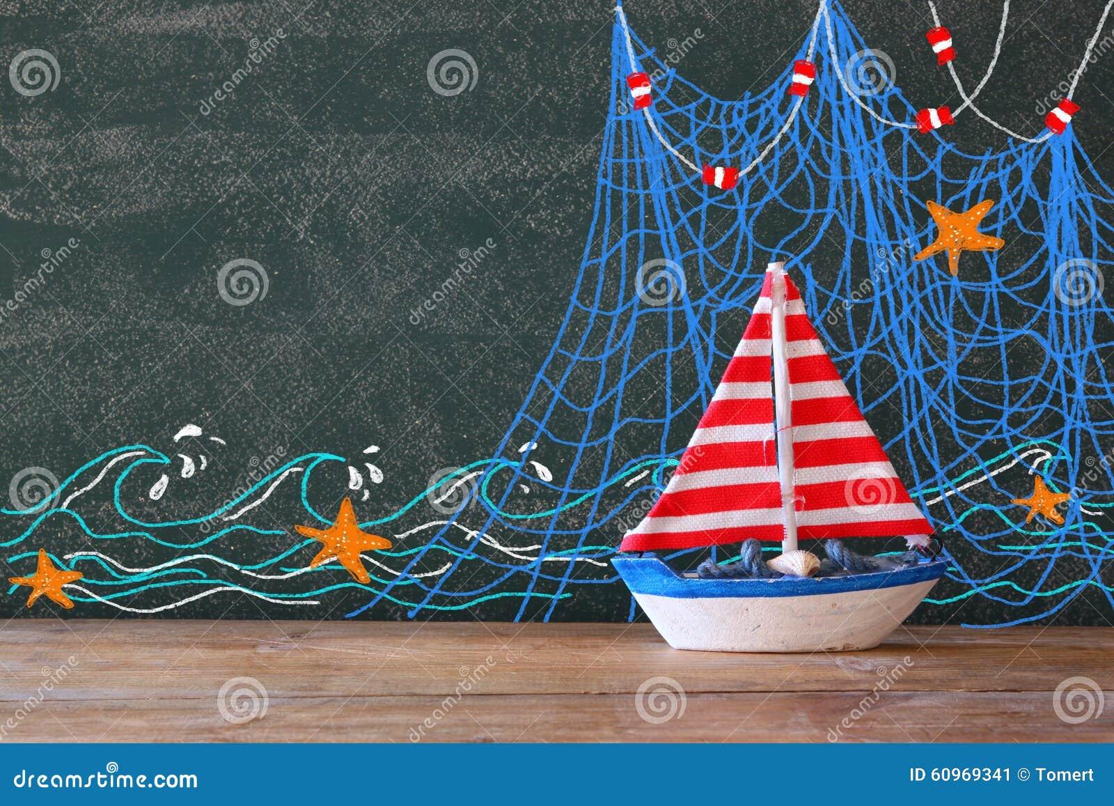 木帆船照片在黑板前面的有船舶例证的