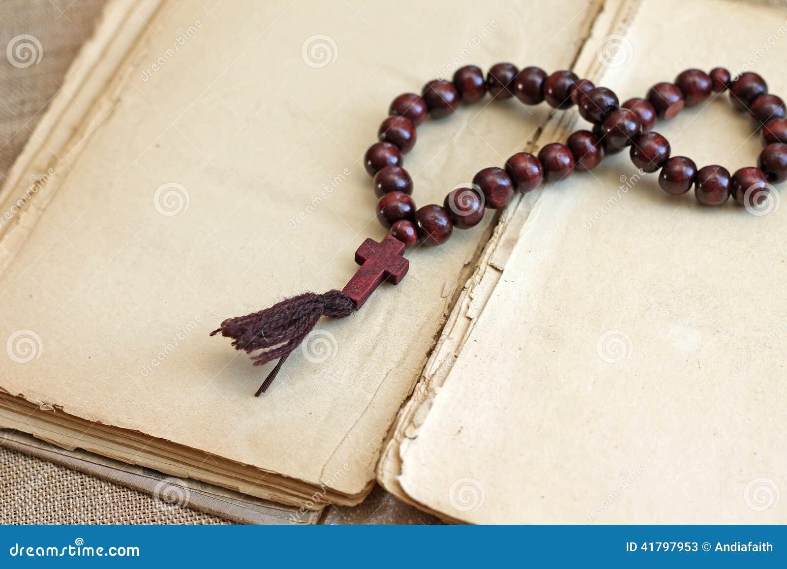 木念珠的图象成串珠状说谎在开放书