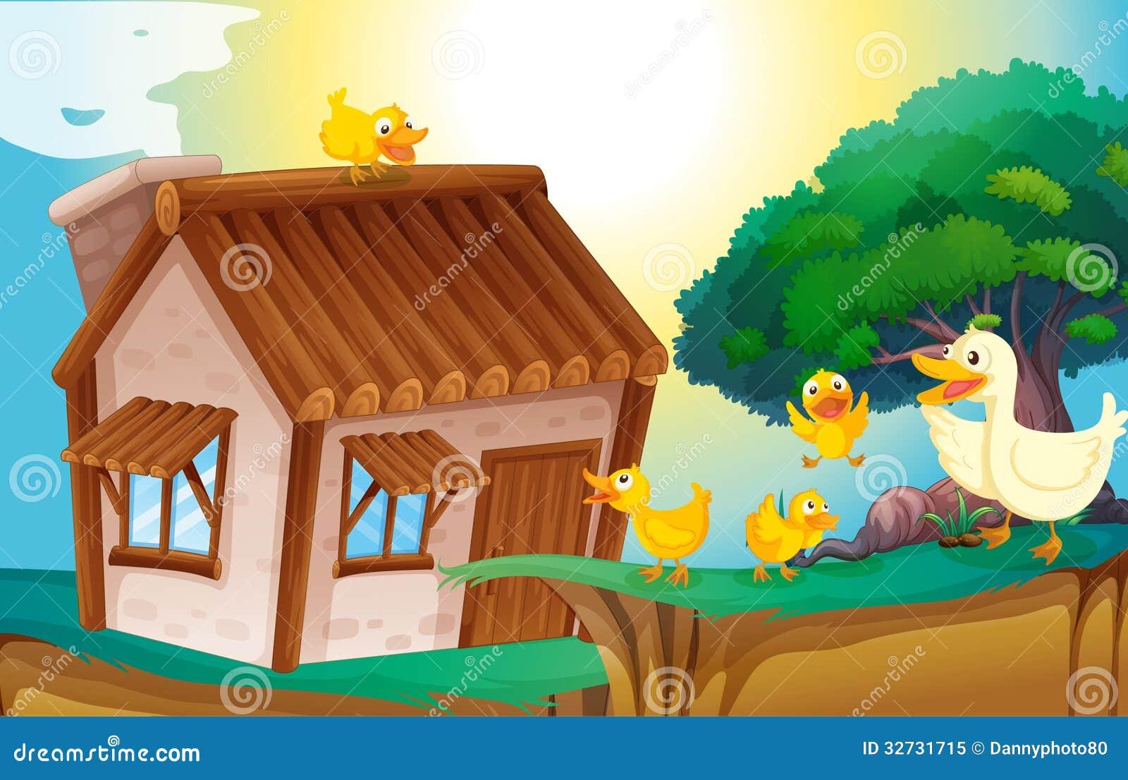 木房子和鸭子