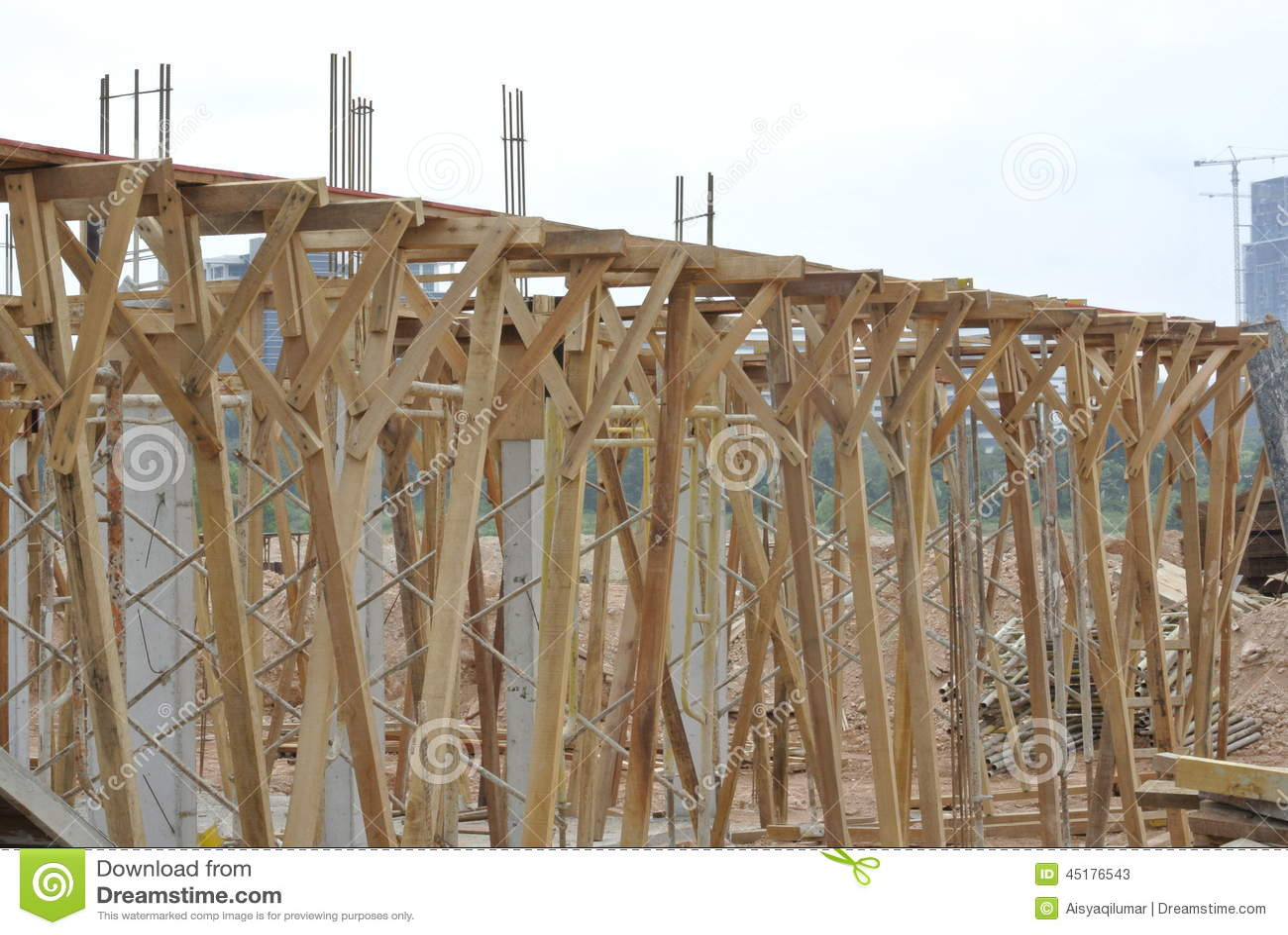 木材支持木材射线模板