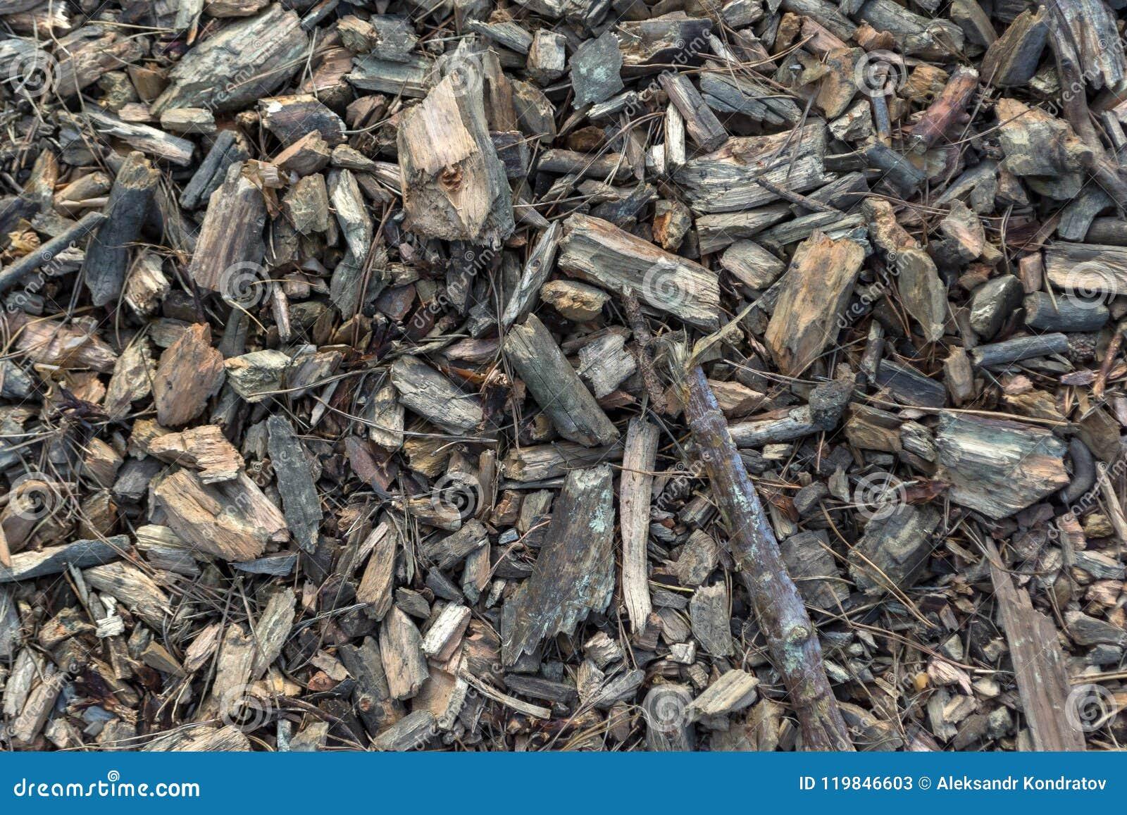 木片混合物的顶视图