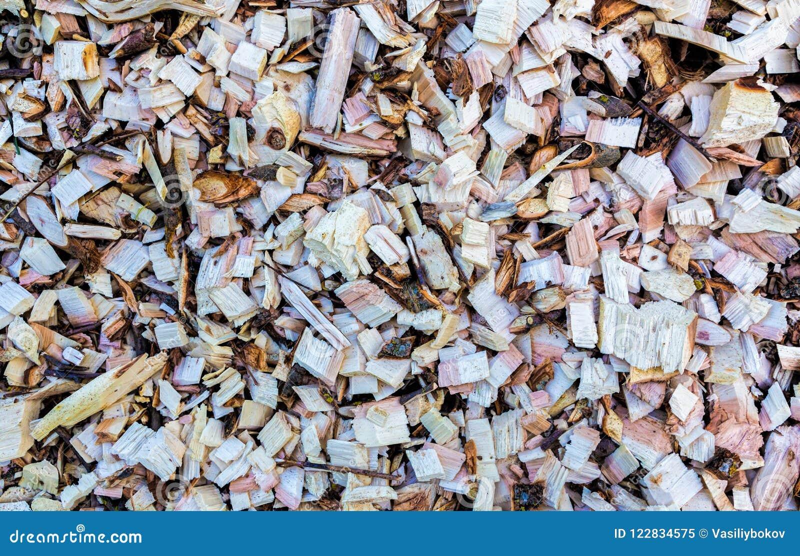 木片 被回收的木头 环境友好处理