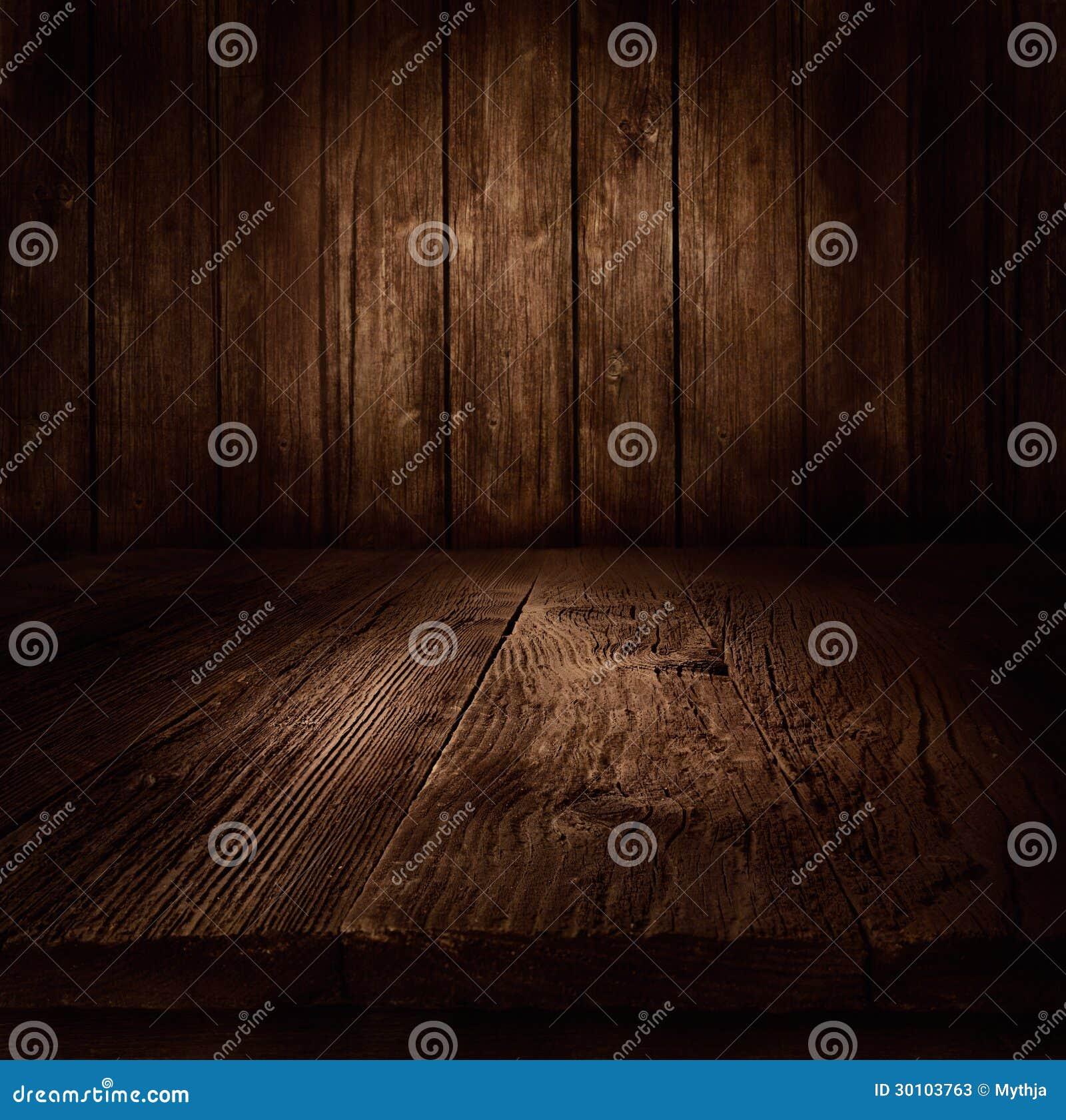 木背景-与木墙壁的桌
