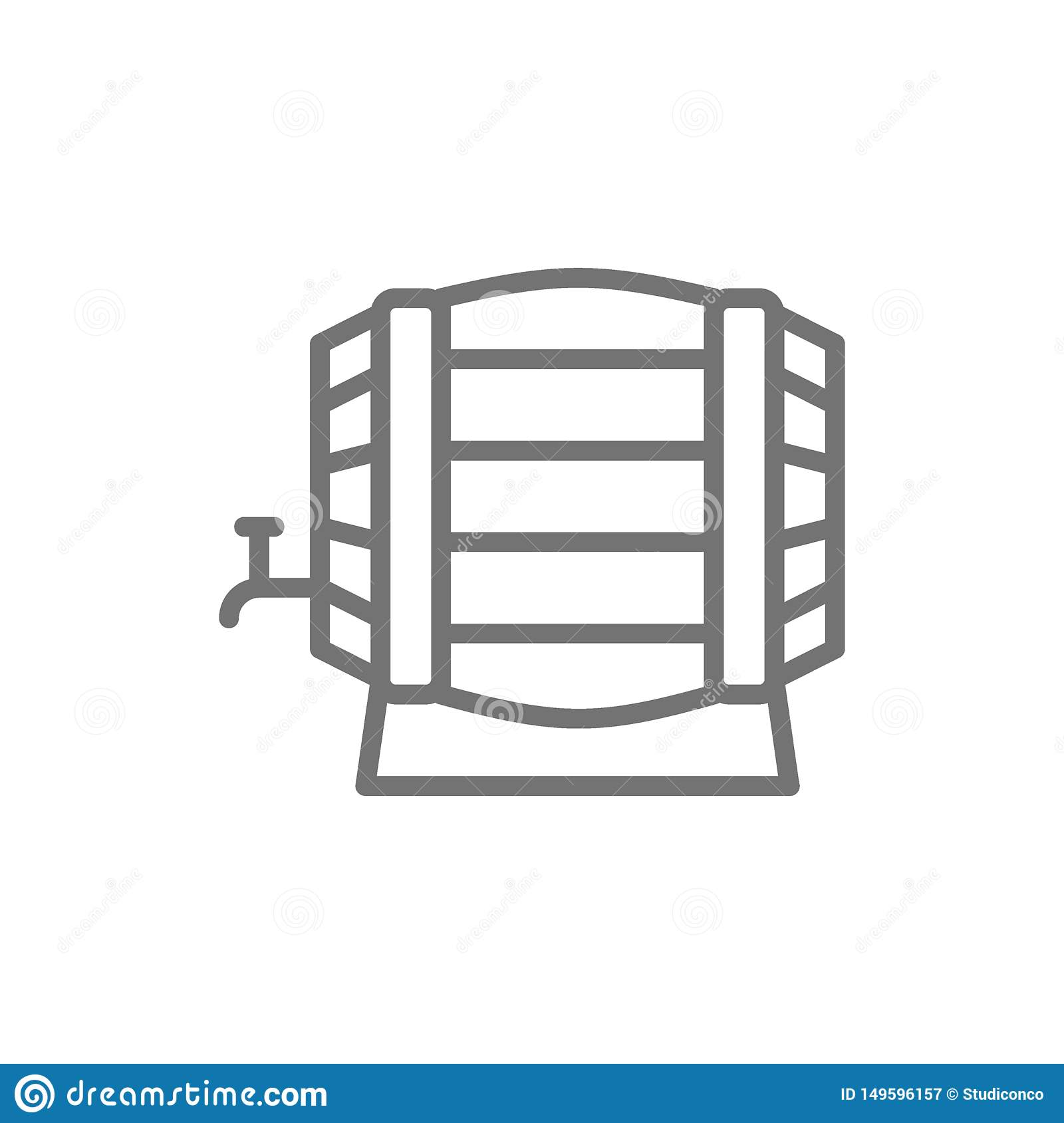 木葡萄酒桶线象