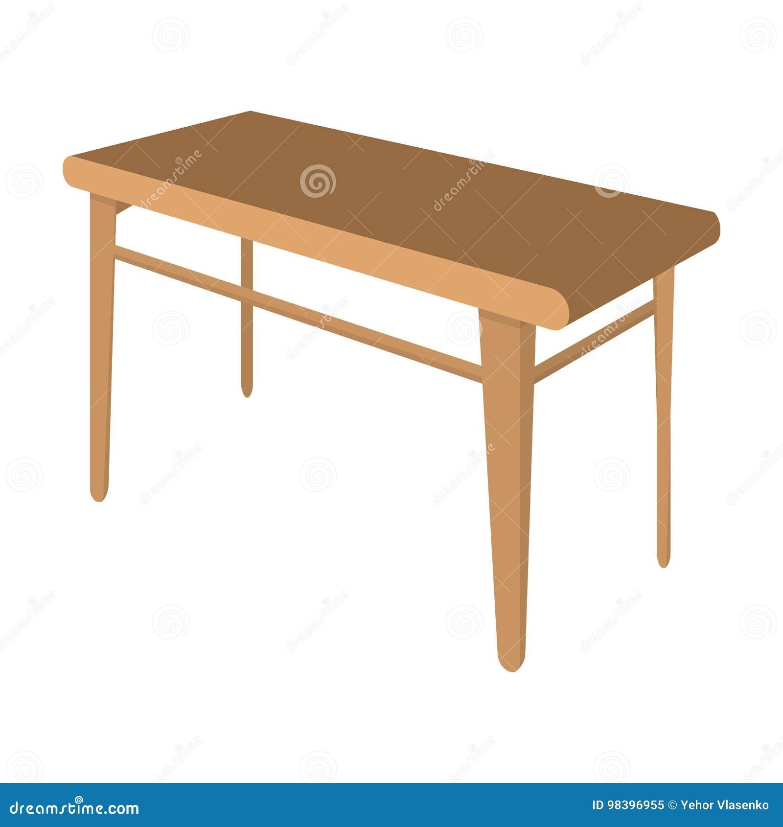 木,餐桌 家具和内部唯一象在动画片称呼等量传染媒介标志股票例证网