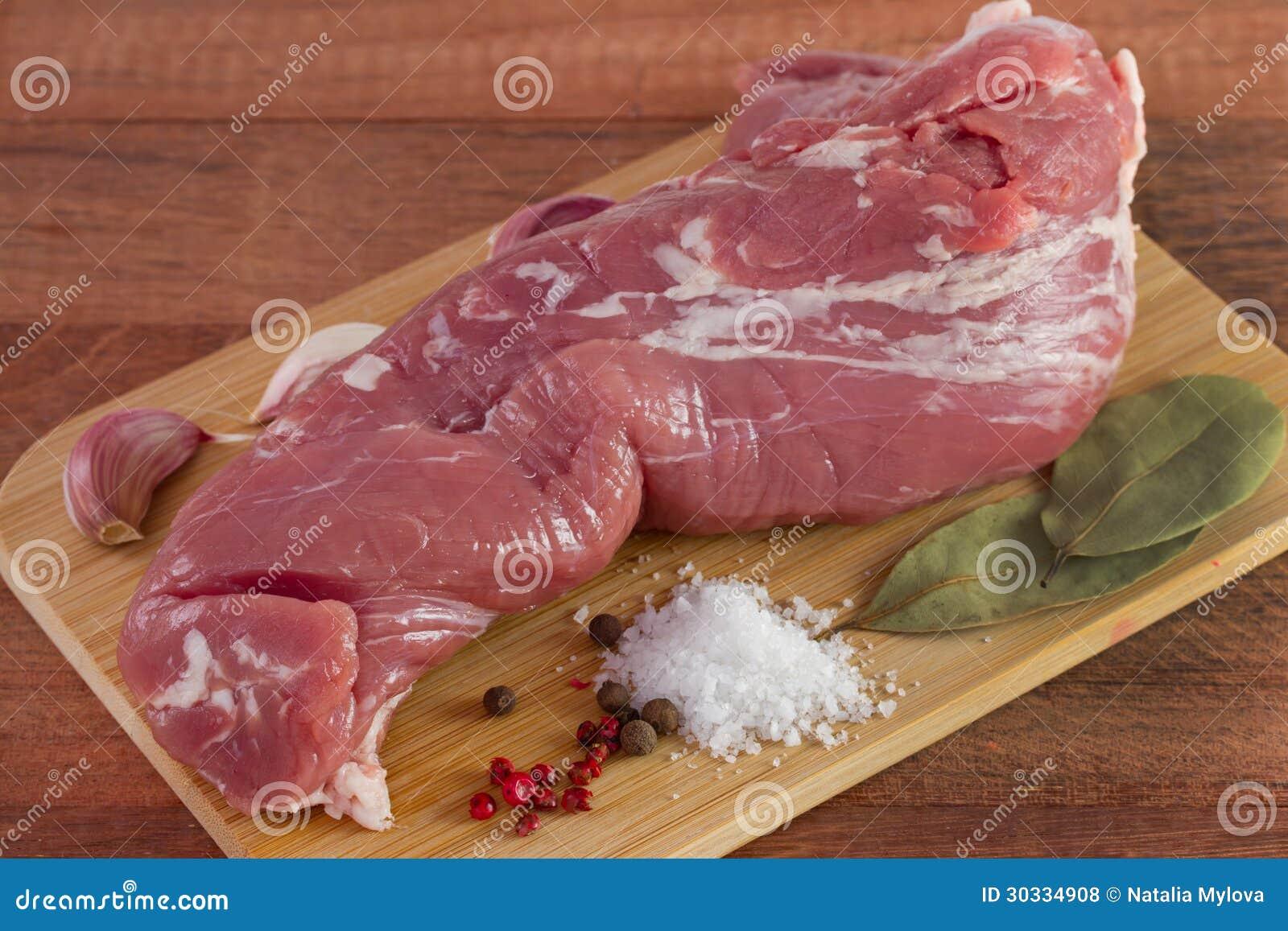 未加工的猪肉用香料