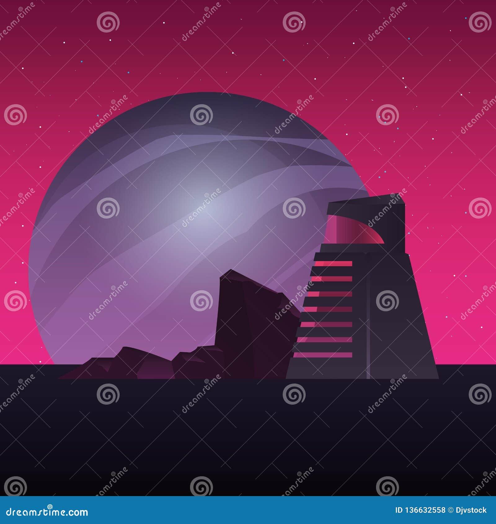 未来派修造的行星空间建筑