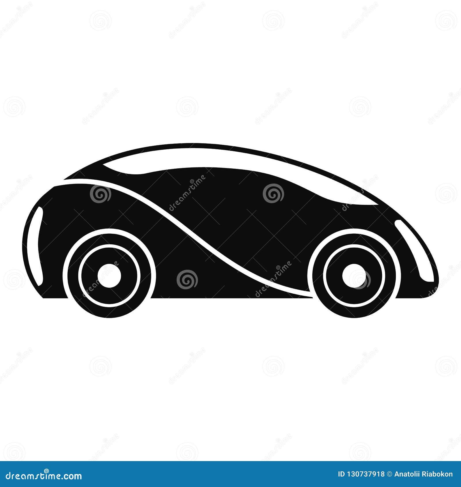 未来派无人驾驶的汽车象,简单的样式