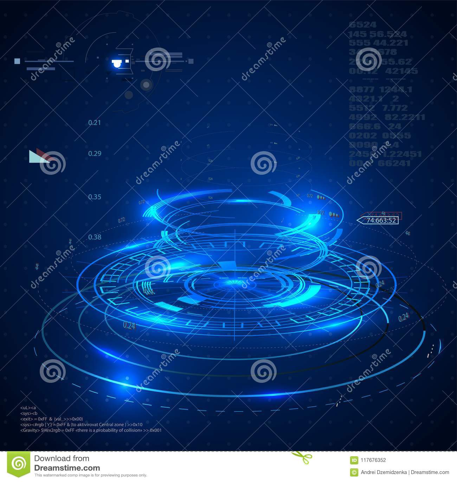 未来派用户界面, app的HUD和网 抽象传染媒介例证未来派概念