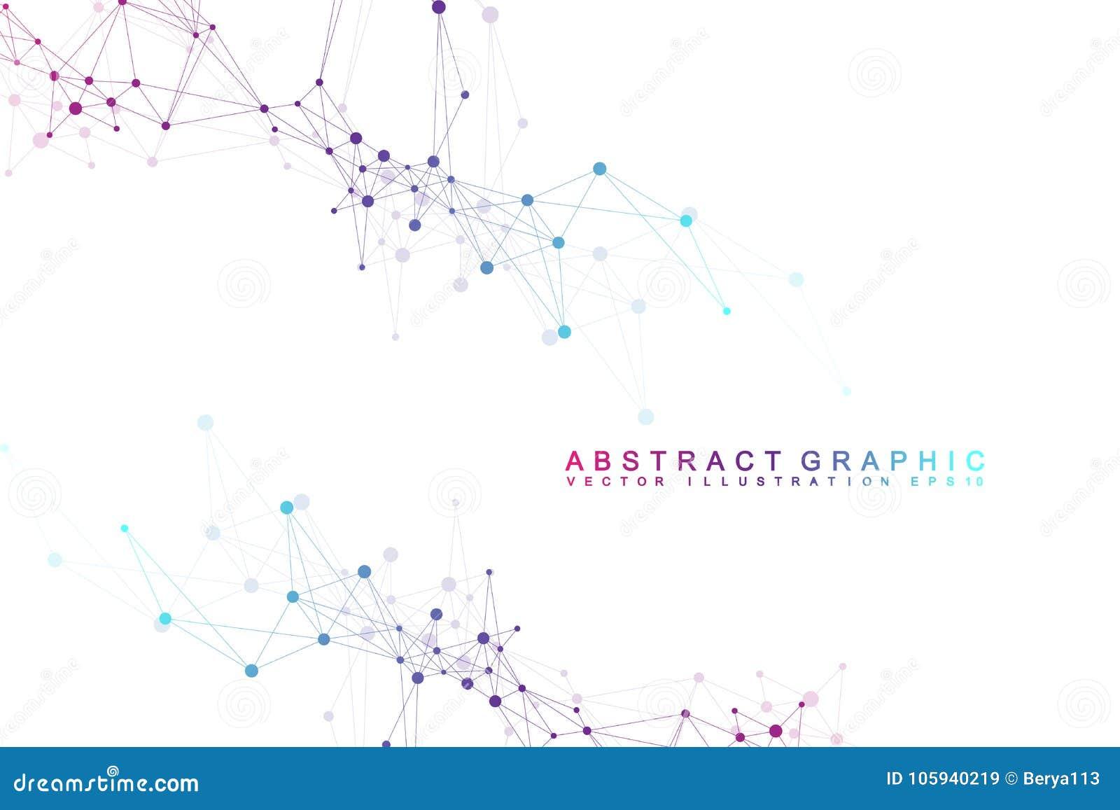 未来派背景通信,全球化 线和小点连接了到科幻场面 现代向量