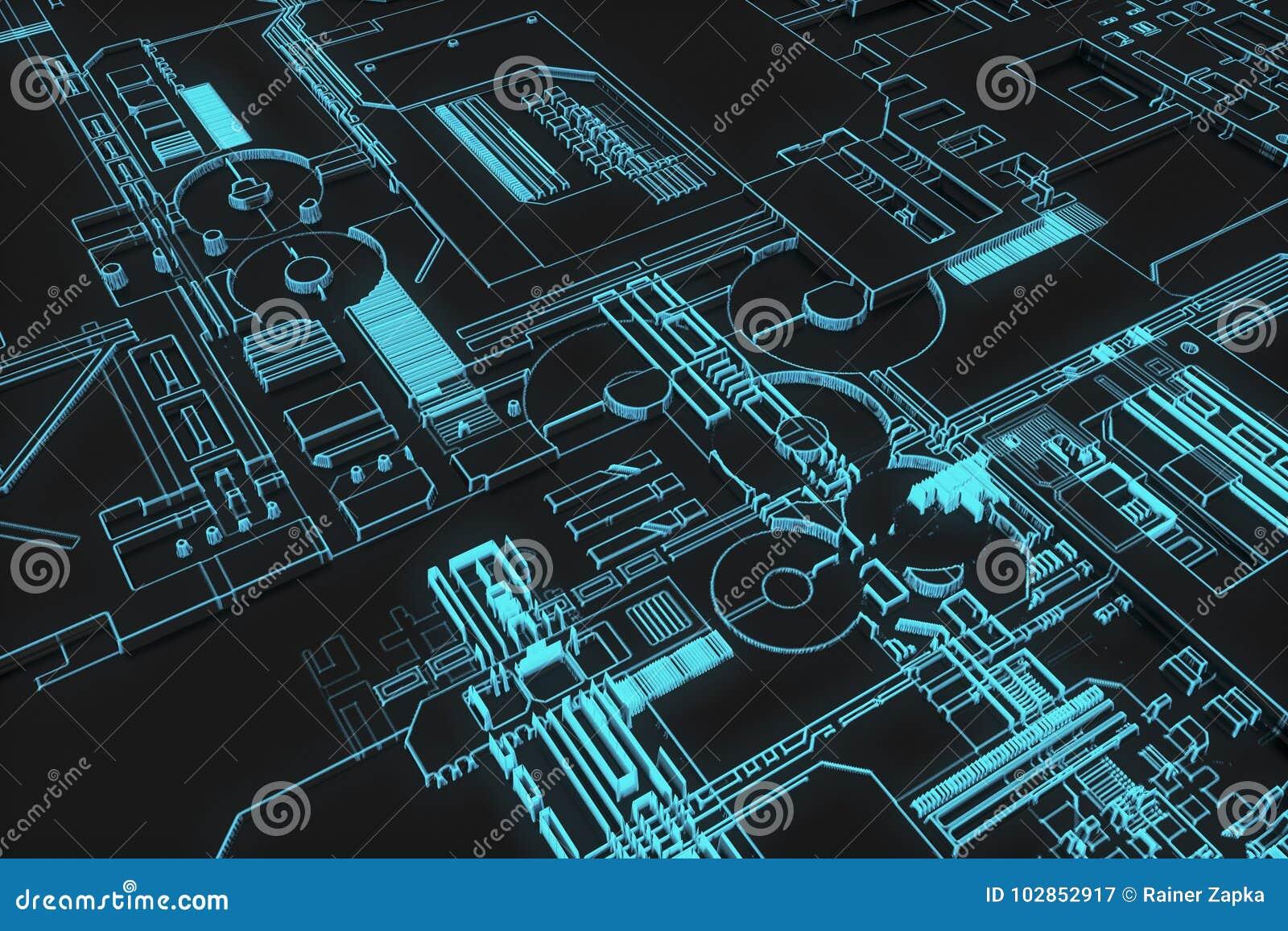 未来派计算机板