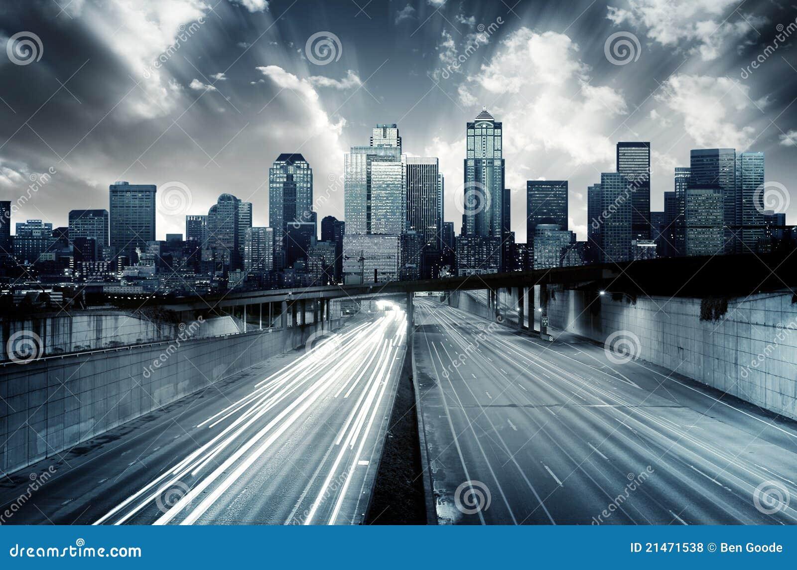 未来派都市风景