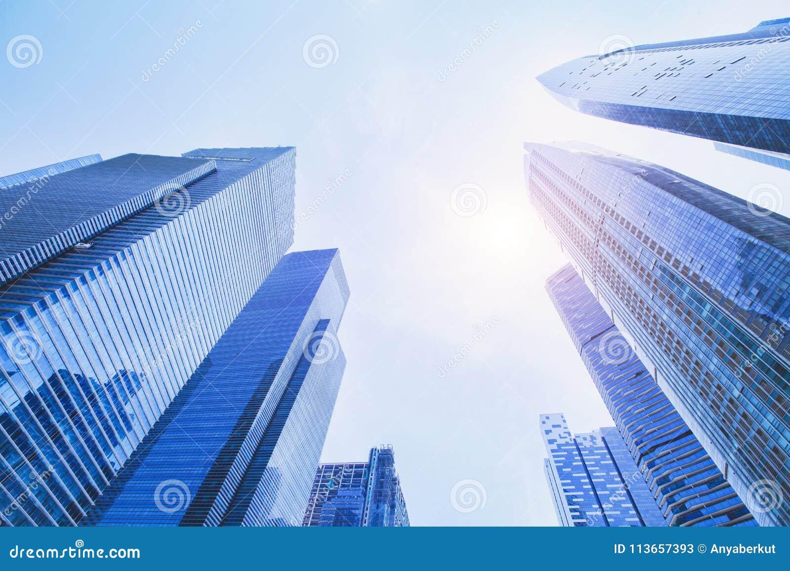 未来派高科技背景,营业所现代大厦