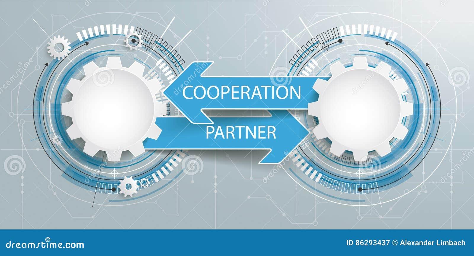未来派2个齿轮电路板伙伴合作
