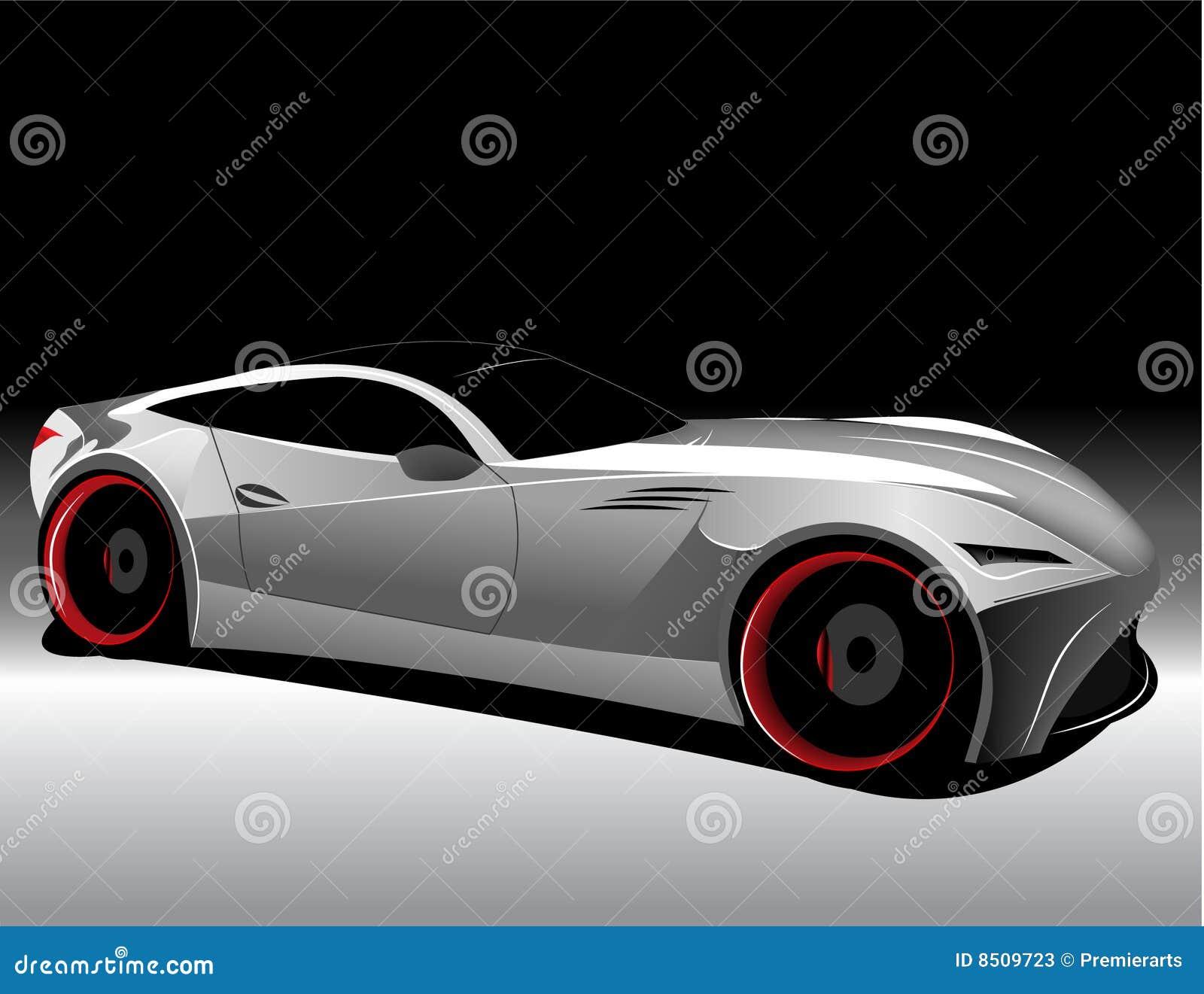 未来派汽车的概念