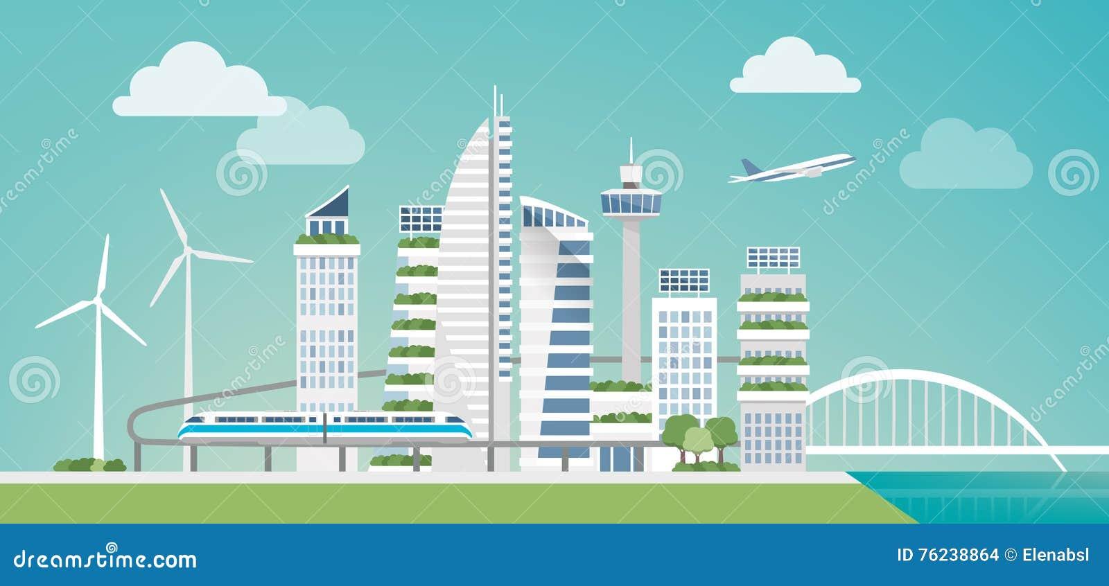 未来派绿色城市
