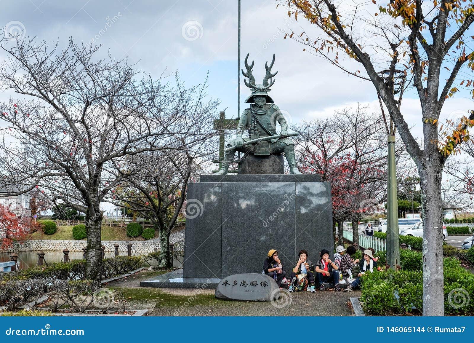本多忠胜在桑名市也叫本田平八郎雕象 三重县 ??