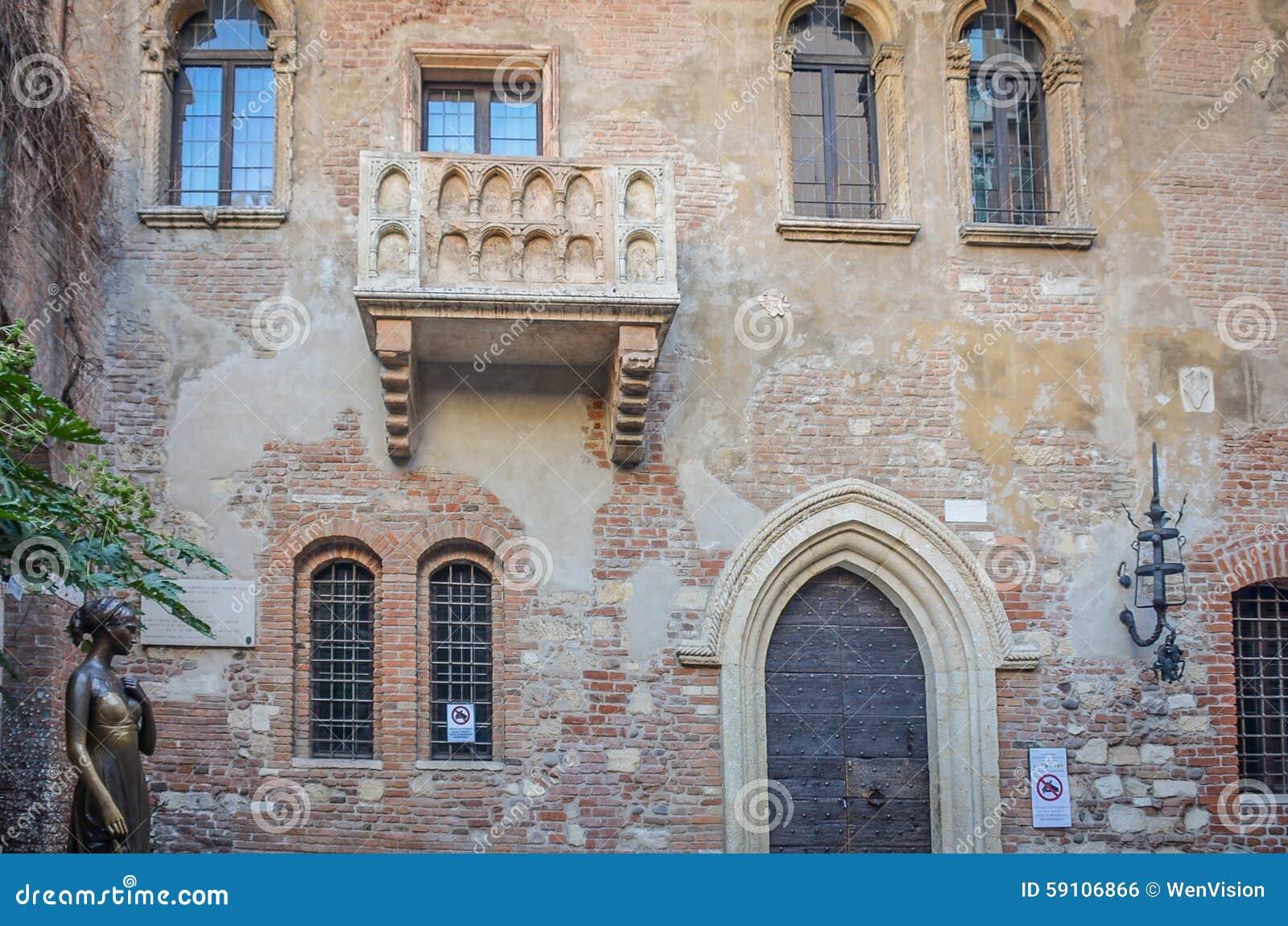 朱丽叶的议院在意大利的维罗纳